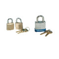 PADLOCK 3/4 IN BRASS 2/PK