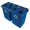 95 GALLON RECYCLE STATION, DARK BLUE