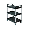 UTILITY CART 3-SHELF BLA