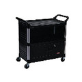 XTRA 3-SHELF EQUIPMENT CART 37-7/8IN BLA