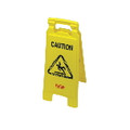 CAUTION WET FLR 2 SIDE FLR SIGN 26X11X12 YEL 6