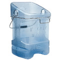 ICE TOTE W/BIN HOOK ADAPTER TRANS BLU