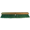 PUSH BROOM 24 IN 100% RECYL WD BLK PET GRE 12