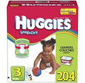 Huggies - Snug & Dry Diapers, Step 3 (16-28 lbs.), 204 ct.