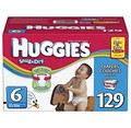 Huggies - Snug & Dry Diapers, Step 6 (over 35 lbs.), 129 ct.