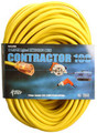 12/3 100' Round Yellow Outdoor Extension Cord