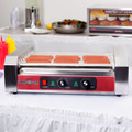 24 Hot Dog Roller Grill with 9 Rollers - 110V, 1350W