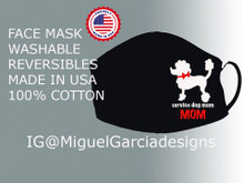 Poodle Service Dog Mom Cotton Mask