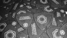 100 BLACK ELLPITICAL - SINGLE SIDED Delrin Guitar Picks