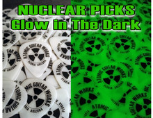 100 Glow in the Dark Guitar Picks CELLULOID