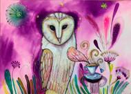 Magical Owl Original Painting