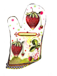 Strawberry pixie oven mitt