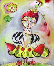 Strawberry Girl Original Painting