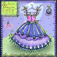 Blueberry Dress Tile Trivet