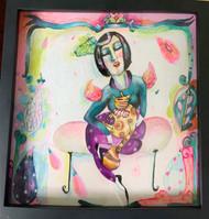Cat lady Original Painting