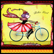 Bike Girl Tile Trivet
