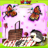 Hedgehog Picnic ceramic tile