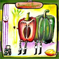 Doomsday peppers tile trivet
