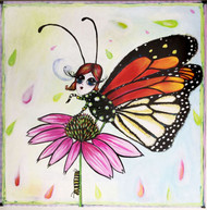 Butterfly Girl Tile Trivet