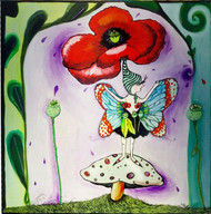 Poppy Fairy Tile Trivet