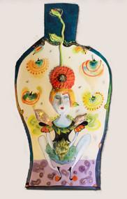 Zinnia Goddess with artichoke
