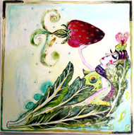 Strawberry Goddess Ceramic Tile