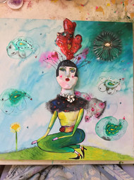 Queen of Dandelions Original Painting