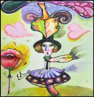Mushroom Goddess Original Painting