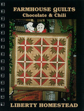 Chocolate & Chili small wall quilt  pattern design by Liberty Homestead LB03