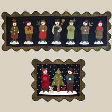 Seven,snowmen,pattern,designer,All,Through,Nite