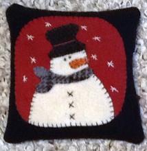 Primitive Pincushion - Snowman pattern and kit designed by JPVDesigns - Julie Ploehn-Vigna