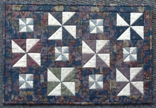 Small Pinwheel Quilt pattern and kit designed by JPVDesigns - Julie Ploehn-Vigna