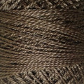 Valdani Perle Cotton #12 solids - 8121 Brown Black Light