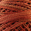 Valdani Perle Cotton #12 variegated - O506 Cinnamon Swirl - cinnamon browns, rusty caramel