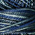 Valdani Perle Cotton #12 variegated - Vintage Hues - P7 Withered Blue