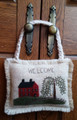 Door Hanger - Saltbox House - January - pattern
