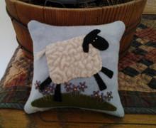 Primitive Pincushion - Sheep pattern and kit designed by JPVDesigns - Julie Ploehn-Vigna