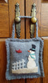 February,Snowman,door,hanger,wool,appliqué,designer,JPV,Designs,kit,Auntie,Jus,Quilt,Shoppe