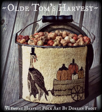Olde Tom's Harvest punchneedle pattern designer Vermont Harvest Folk Art