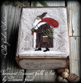 Olde Father Christmas punchneedle pattern designer Vermont Harvest Folk Art