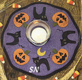 LS Halloween Candle Mat pattern