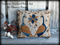 Down Peacock Lane punchneedle pattern designer Vermont Harvest Folk Art