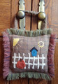 Primitive,October,Punkin,Door,Hanger,wool,appliqué,designer,JPV,Designs,kit,Auntie,Jus,Quilt,Shoppe