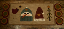 Winter,Welcome,Runner,Briar,Root,Primitives,Robin,Vizzone,designer,wool,appliqué,pattern