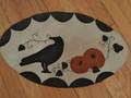 October Crow - wool penny rug
