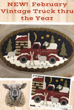 Vintage Truck Thru the Year - February pattern by Buttermilk Basin - Stacy West -  kit by Auntie Ju's Quilt Shoppe