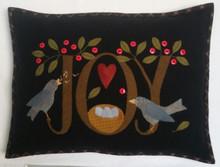 Joy pillow kit by Auntie Ju's Quilt Choppe