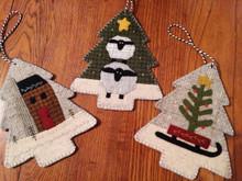 Three Woodland Ornaments designed by Buttermilk Basin
