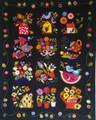 Summertime Sampler wool appliqué wall quilt design by Erica Kaprow