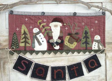 S is for Santa pattern #355 wall hanging kit